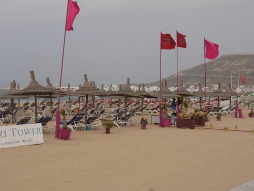 La plage à Agadir