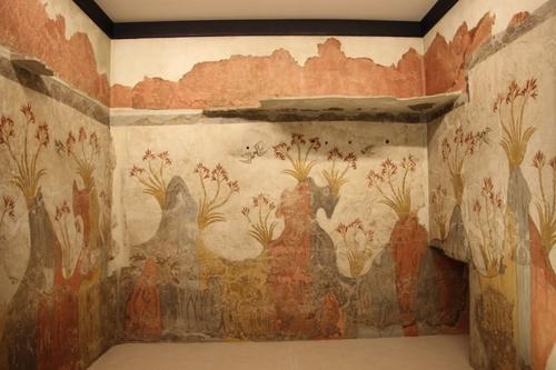 Les fresques de Santorin au musée archéologique d'Athènes