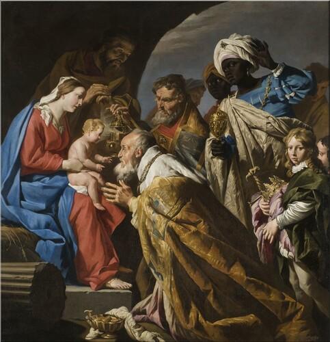 L'Adoration des Mages par Matthias Stom Musée des Augustins Toulouse
