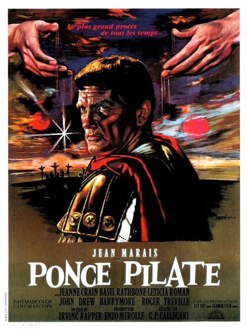 PONCE PILATE - BOX OFFICE JEAN MARAIS 1962