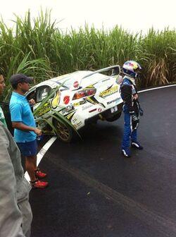 Rallye de St-Joseph : une voiture percute la foule