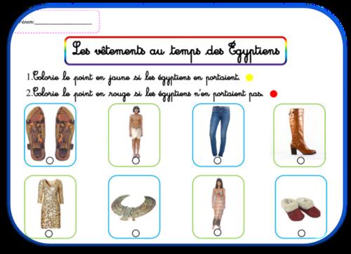La vie au temps des égyptiens : les vêtements et la nourriture