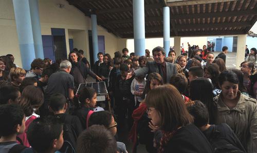 Premier passage d'e-car au Collège Brassens de Narbonne
