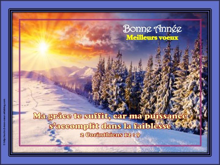 Bonne et Heureuse Année / Meilleurs voeux - 2 Corinthiens 12 : 9