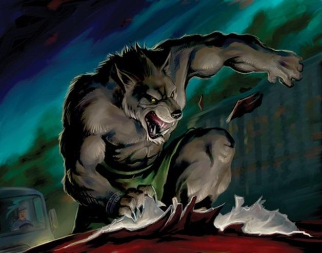 Loup garou dessin