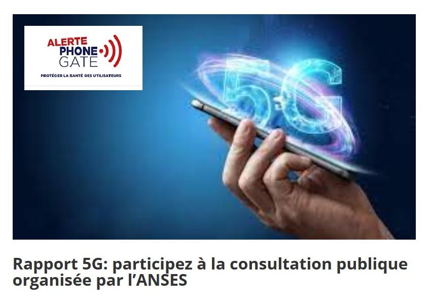 Rapport d'expertise du groupe de travail Anses sur la 5G >>> la consultation publique est ouverte jusqu'au 1er juin
