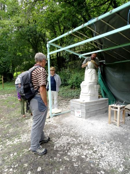 La statue de la déesse Sequana est terminée !