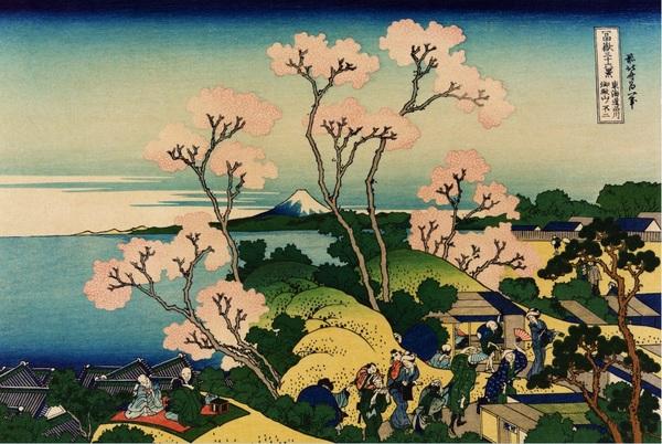 Avent 2014 - Jour 21 : Le Mont Fuji vu de Goten-yama..., Hokusai