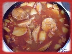 roti de porc pommes de terre/lardons