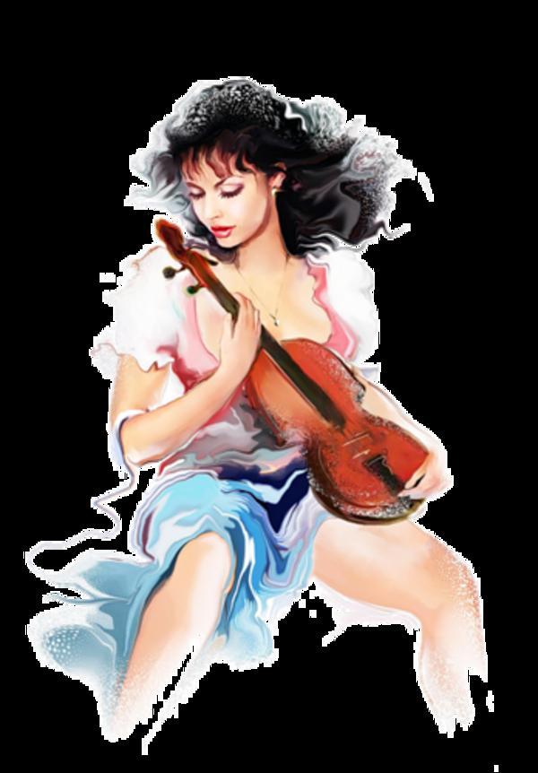 Femme ou homme ( avec instrument de musique ) 1