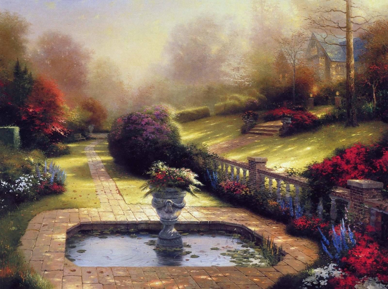 Thomas Kinkade tavaszi festményei