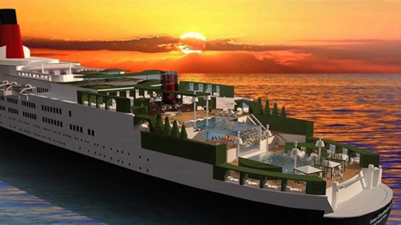 """Queen Elizabeth 2"""" wird Luxushotel: die ersten Entwürfe"""