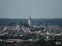 Vue sur la ville de Mons depuis le chassi a molette de Frameries