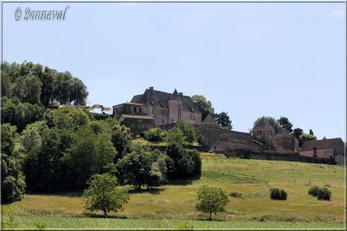 Les Jardins Suspendus de Marqueyssac Dordogne le château vu de la route en contre-bas