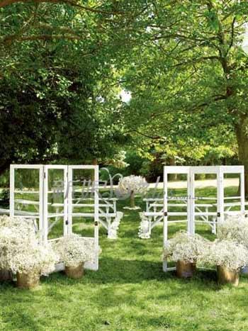 Fantasia di decorazione di matrimonio all 39 aperto for Decorazione giardino matrimonio