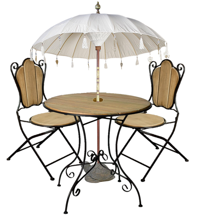 tube table chaises bistro