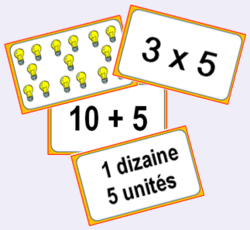 Multiplus, jeu sur les multiplications par 2, 3, 4, 5