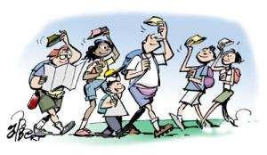 """Résultat de recherche d'images pour """"marcheurs dessin"""""""