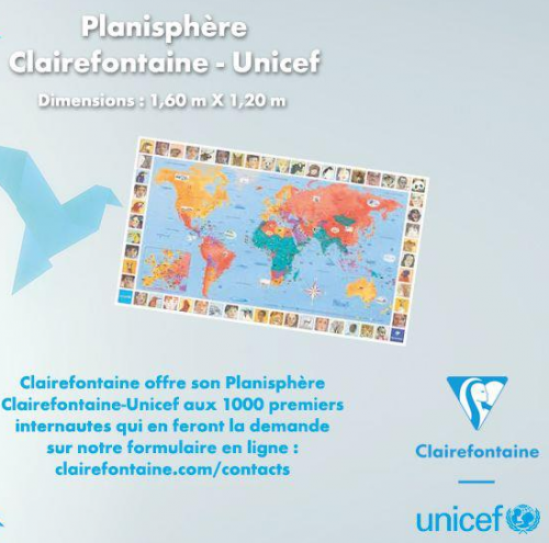 Planisphère Clairefontaine