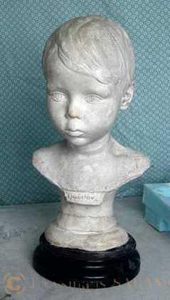 Buste en plâtre après restauration - Arts et sculpture: sculpteur figuratif