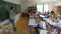 Didier Bardoux en classe de CM