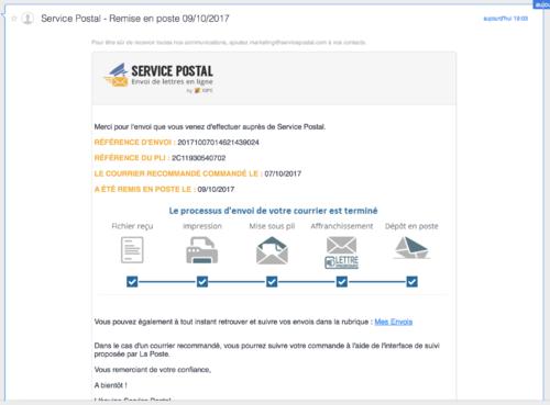 Service Postal : bon plan ou publicité mensongère  ?