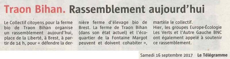 Traon Bihan : EELV Brest et l'Autre Gauche-BNC solidaires à l'appel au rassemblement
