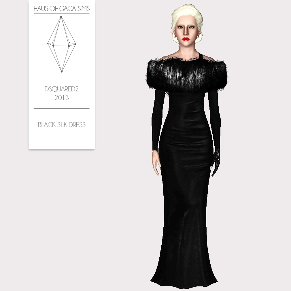 DSQUARED2 2013 BLACK SILK DRESS
