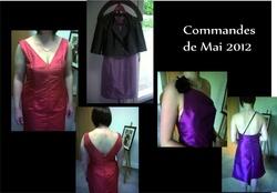 Commandes de Mai 2012