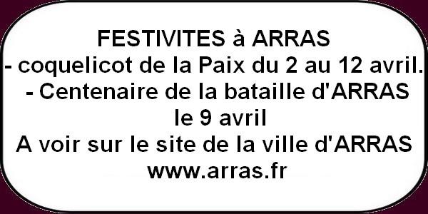 Festivités , salons, randos et concert ce week-end à ARRAS et ses environs