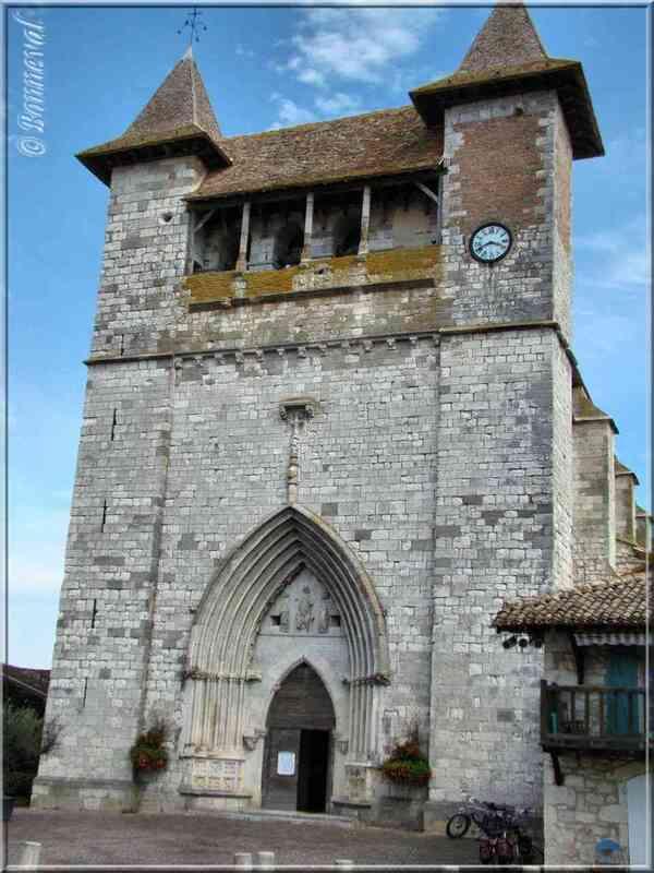 Villeréal Lot-et-Garonne l'Eglise Notre-Dame de style gothique méridional