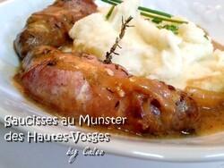 Saucisses brats au Munster des Hautes-Vosges