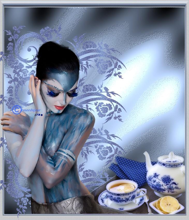 defi femme en bleue