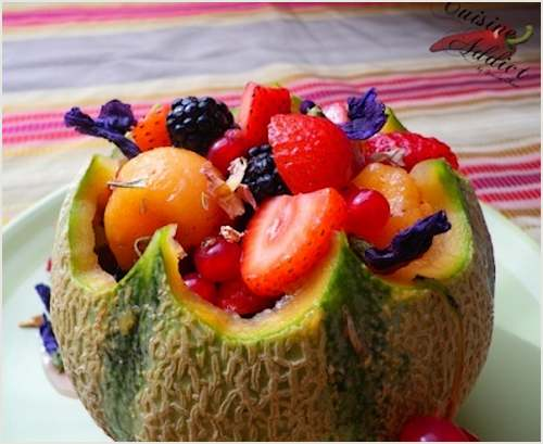 Melon aux fruits rouges