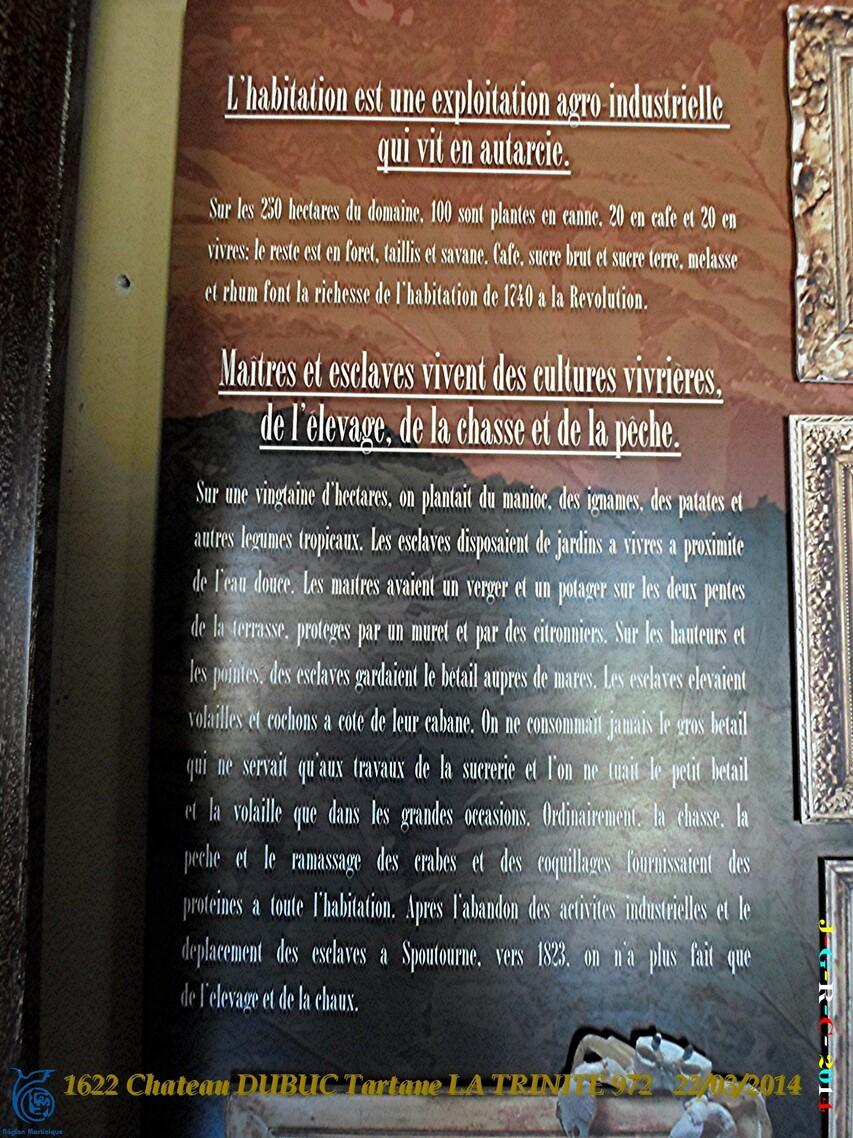 VACANCES MARTINIQUE Ruines du château DUBUC 2/4  Mars Avril 2014 09/10/2014