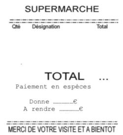 Le tickets de caisse MHM CE1