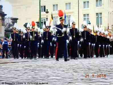 NOTRE DEFILE MILITAIRE DU 21/7/2018 A BRUXELLES