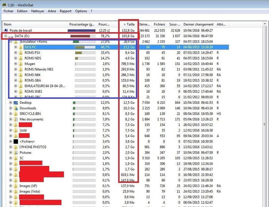 Libérer de l'espace disque : Analyser en détail les fichiers et dossiers dans les partitions avec Windirstat