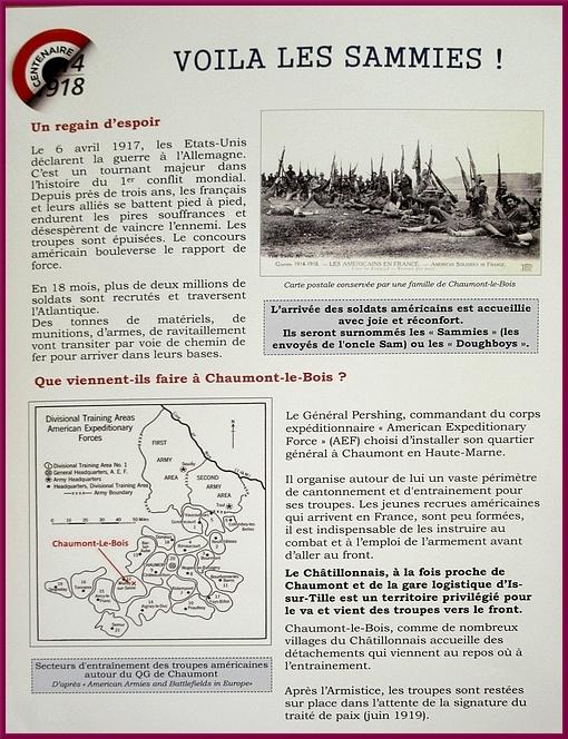 Une intéressante exposition sur la Grande Guerre a été visible à Chaumont le Bois dimanche 11 novembre et lundi 12 novembre