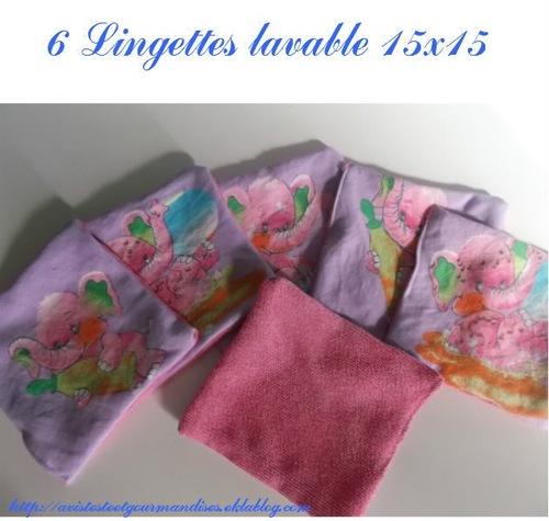 lingettes lavable