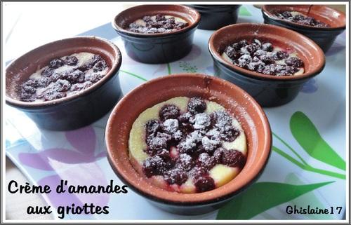 Crème d'amandes aux griottes