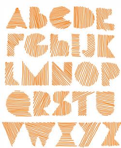 Alphabet déco, graphisme, motricité fine, dixmois