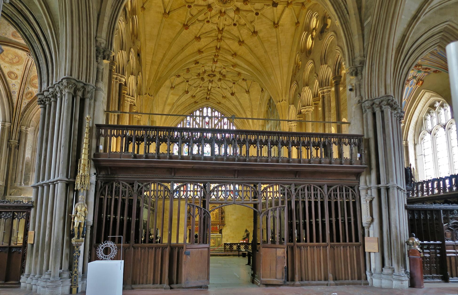 WINCHESTER, la Cathédrale: la Chapelle de la Vierge