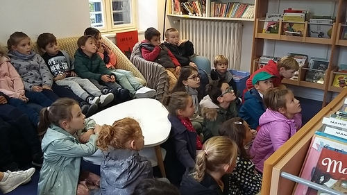 Les CP à la bibliothèque municipale