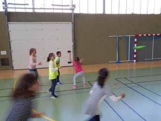 Cycle sportif sur les lancers: le frisbee