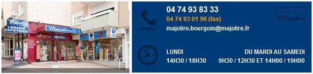 Dédicace à la librairie Majolire de Bourgoin-Jallieu