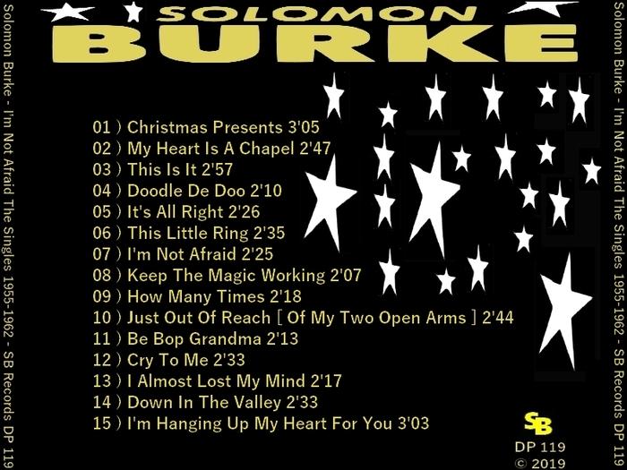 "Solomon Burke : CD "" I'm Not Afraid The Singles 1955-1962 "" Soul Bag Records DP 119 [ FR ]"
