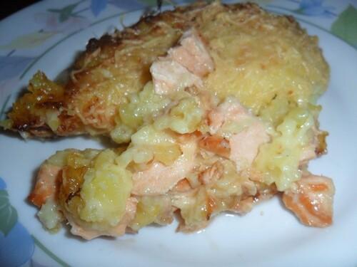 *** Gratin de saumon et pommes de terre ***