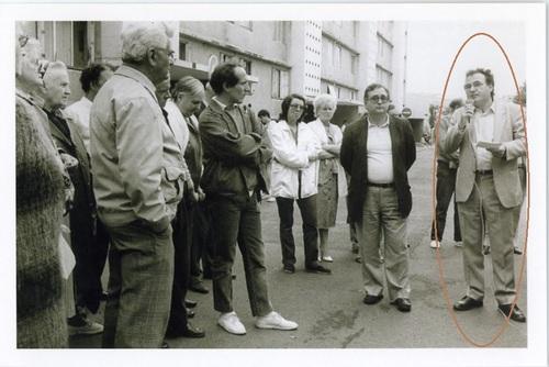 Michel LAUBIER, premier-adjoint au Maire de Nanterre, président du syndicat intercommunal des pompes funèbres en 1983