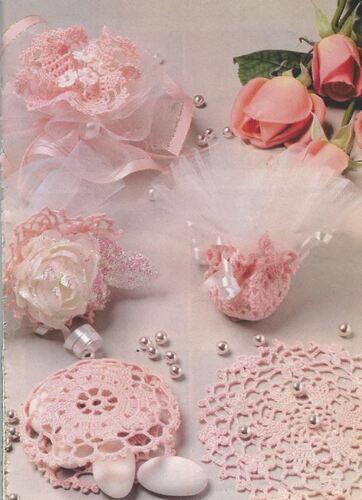 Modèles de napperons -bonbonnières  crochet
